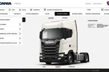 Configuratore scania per Progettare un veicolo su misura online