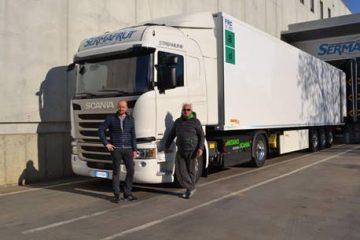 Sermafrut ha scelto un veicolo Scania CNG per trasportare dolcezza