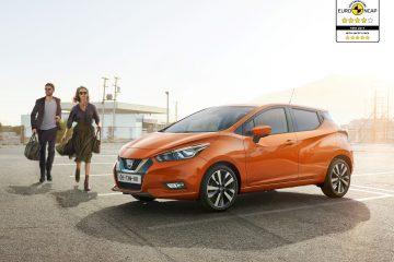 Nuova Nissan Micra a quattro e cinque stelle Euro NCAP