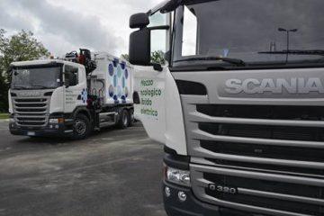 Contarina trasporta rifiuti con gli ibridi Scania
