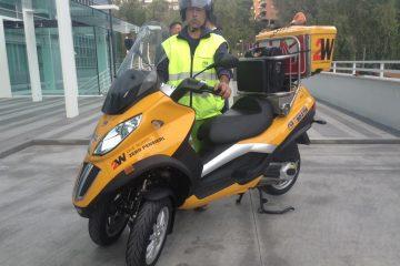 """In pista il """"Mobility Scooter"""" e la moto arriva prima"""