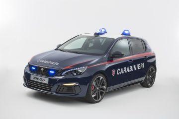 Consegnata Peugeot 308 GTI all'Arma Carabinieri