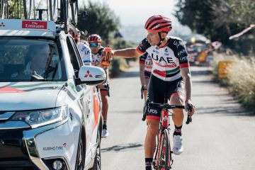 UAE Team Emirates a bordo di Mitsubishi