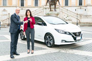 Nissan Leaf e il van e-NV200 a servizio di Roma Capitale