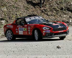 Poker di Abarth 124 rally al Tour de Corse