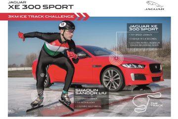 Jaguar XE 300 sport vince sfida sul ghiaccio