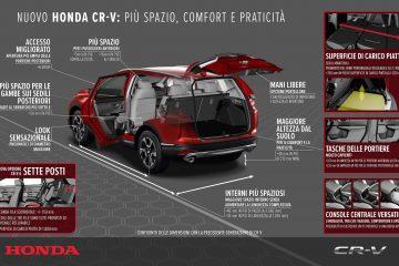 Honda rinnova SUV CR-V, ora fino a 7 posti