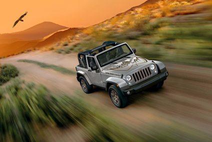 Edizione speciale celebrano 10 anni di Jeep Wrangler