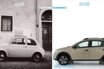 Mezzo secolo di crescita dimensioni auto in italia